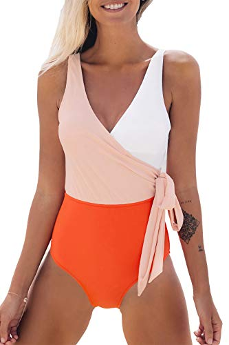 Jouplsar Womens Plus Size Swimsuit Two Piece Bathing Suits Mesh Printed Tankini